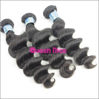 QNice No process Hair Weave Peru Loose Wave Sprial Curl 4pcs Peru Curl Hair Weft Mixed Lengths