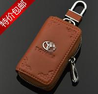 Leather Key Bag Key Case key wallet for Toyota RAV4 Corolla Camry Reiz X Mark Prado Highlander crown Car Logo Keychain