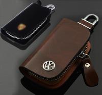 Genuine Leather Key Bag for VW Volkswagen Tiguan Polo Golf Sagitar cc  bora PASSAT EOS Jetta case Car Logo Keychain Key Ring