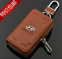 genuine leather car key cover key bag key wallet for hyundai ix35 santa fe elantra tucson verna ix45 i40 sonata solaris