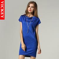 S-5XL Plus Size 2014 New Summer Fashion Leisure European Style Batwing Loose Woman Female Women's Mini Dresses Vestidos V112