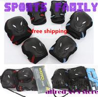 New Hot 6pcs/Set Knee Pad Elbow Protection Wrist Protective Guard Pad free shipping