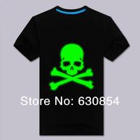 2014 new Free shipping Pure cotton men T-shirt skulls noctilucent fluorescent vests superman logo Large size multiple colors