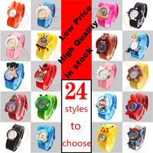 Hot Sales Lovely Children Cartoon Watch Jelly Silicone Strap quartz Watch Boys Girls Baby Birthday Gift Wristwatches(China (Mainland))