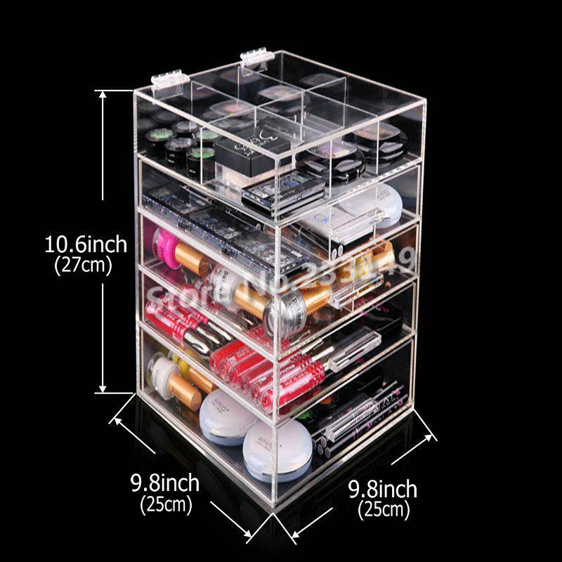 Acrylic Large Makeup Organizer Drawers - Mugeek Vidalondon