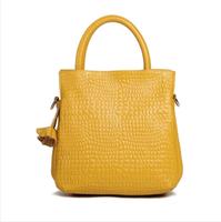 Vertical genuine leather women's handbag cattle flower handbag 2014 spring and summer bag women free shipping
