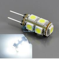 Super Bright G4 5050 SMD LED Chip Silicon Lamp DC 12V 360 Degree Cool White SMD Car Light Bulb Lamp 942 b007