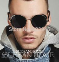new2014 Hot Sale Luxury vintage Round coating sunglass men/women Exquisite Retro Metal oculos de sol Free shipping