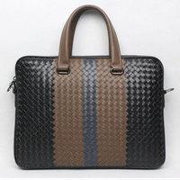 The new men's woven shoulder bag high-end business men briefcase bag free shipping