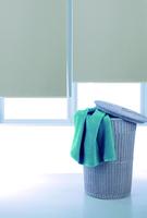 Flat white stripe dodechedron full shutter anti-uv engineering curtain home beads roller shutter