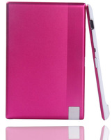 10pcs/lot pink color 850mah Credit Card power bank 18650 external battery for mobile phone