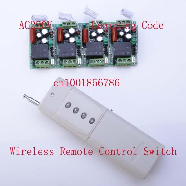 220v 10a 4ch rf wireless remote control led lights switch. Black Bedroom Furniture Sets. Home Design Ideas