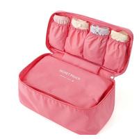 Trip multi-functional underwear Bra Panties Socks Storage bag with Pocket portable Travel Zipper wash bag 7 colors