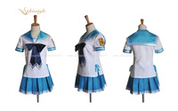 Kisstyle Fashion Aria The Scarlet Ammo Sailor Suit Cloth Summer Uniform Cosplay Costume Custom-Made