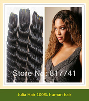 Free shipping Deep Wave 5A Unprocessed Julia queen hair 3pcs Lot Malaysian Virgin Hair Extensions Natural Color