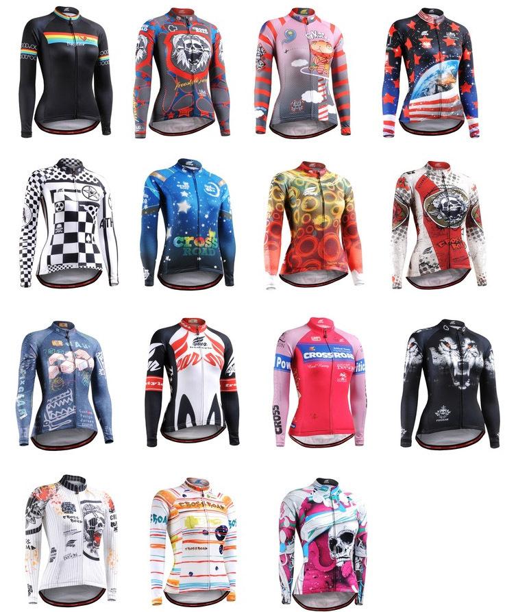 All-in-one heißer verkauf! 2013 fixgear frauen frühjahr& herbst polyester Radfahren fahrrad fahrrad langarmtrikot