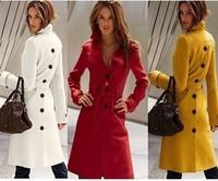 2014 New fashion Autumn Winter casual European waistcoat fur wool women coat plus size jacket casaco feminino brand overcoat