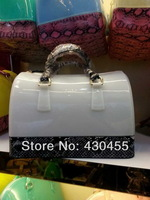 2014 New Design furly candy handbags handbag wholesale ladies handbags,women candy jelly serpentine handbags- free shipping