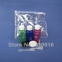 Free shipping 9 in 1 travel bottles set ,plastic botles containers for travelling ,2 set /lot