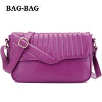 2014 New Women Genuine Leather Flap handbag Fashion Colored Real Cow skin bag Crossbody Strap girl/ladies black blue purple B358