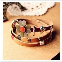 Vintage leather bracelet jewelry accessories bracelets for women 2014 free shipping F93(China (Mainland))