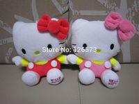20cm cute hello kitty plush hello kitty birthday present soft toy kids toy girlfriend's gift 1set free shipping