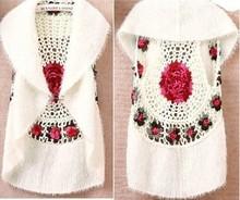 Handmade circular crochet shrug bolero cardigan hippie