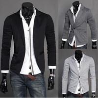 2014 New Limited Regular Cotton Blaser Masculino Men Suit Free Shipping Men's Blazer Original Design Classic Knitted Suit Male