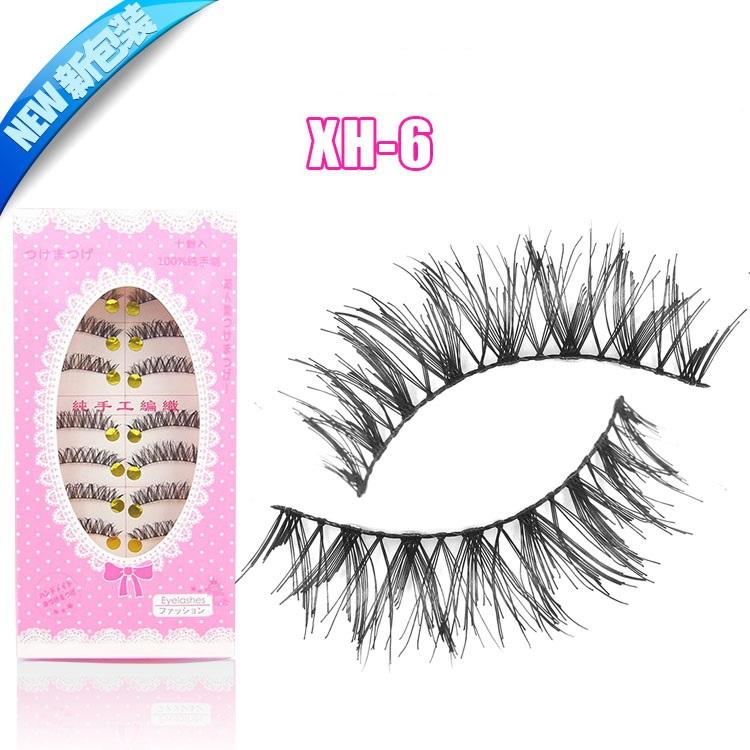 20 Paare xh6 falschen wimpern handgefertigt falschen wimpern extensions dicken langen cross gefälschte wimpern gesetzt Auge make-up kosmetik