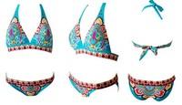 2014 New Arrival Ethnic Printed European and American fashion sexy swimwear bikini swimsuit