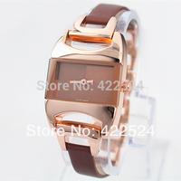 New Model Fashion Lady/Women Watch  Dress Watch Leather Clock Stainless Steel Chain Female Hours Bracelet Watch 4 Colors