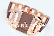 New Model Fashion Lady Women Watch Dress Watch Leather Clock Stainless Steel Chain Female Hours Bracelet