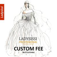 Extra Custom Fee For Wedding dress / Evening Dress / Bridesmaid / Tuxedos Custom Made (Color/Size) -  Ladysissi store NO. 820840