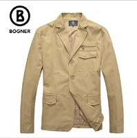 Boger casual suit outerwear men's clothing 2014 spring and summer fashion comfortable commercial 100% cotton comfortable 2color
