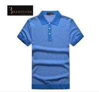Free shipping Billionaire italian couture men's clothing t-shirt short-sleeve 2014 mercerized cotton straight casual