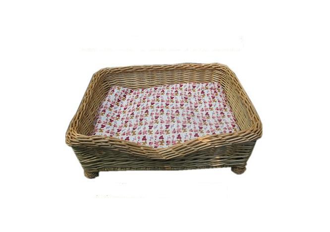 Grátis shipping.The refinado cesta de vime cama com travesseiro. Pet Sofa.Size Disponível nos tamanhos pequeno a grande porte(China (Mainland))
