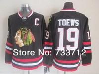 Free shipping Chicago Blackhawks 19 Jonathan Toews 2014 Stadium Series New black C Patch mens Ice Hockey Jerseys wholesale