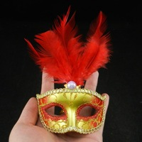 new supper mini pearl lace feather mask venetian masquerade party decoration novelty christmas gift 50pcs/lot free shipping