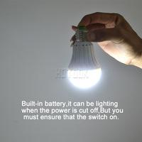 LED Smart Bulb E27  7W led emergency light rechargeable Battery lighting Lamp for home indoor lighting 2835smd bombillas CE RoHS