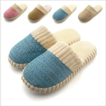 2013 Fashion New Popular Autumn and Winter Warm Men&Women Cotton-padded Lovers at Home Slippers shoes winter warm slipper shoes(China (Mainland))