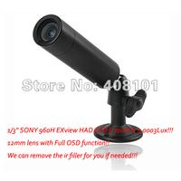 "High Resolution Bullet Hidden 1/3"" SONY 960H EXview HAD CCD II 700TVL 0.0003Lux Mini bullet Camera 12mm lens D-WDR OSD 2D-DNR"