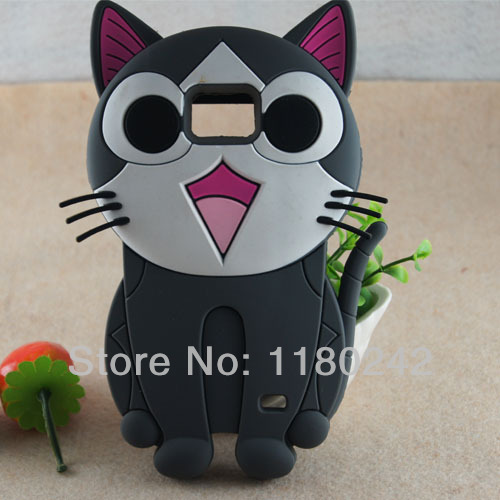 For Samsung i9100 Galaxy SII S2 3D Cheese Cat Silicone Soft Cover Back Phone Case Cartoon Free Shipping(China (Mainland))