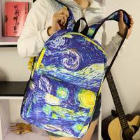 Stunning doodle casual  backpack student school bag universe pattern starry night cosmo bag space blue sky  Minions backpack