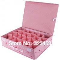 High Quality Cherry Design  24Cells hard cover underwear Socks Ties Scarf Storage boxes/bin,42*32*11cm