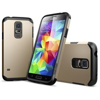 2014 New SGP Tough Armor Case for Samsung Galaxy S5 i9600 SV Spigen PC+TPU Dual Protection Cover Free Shipping THA03860