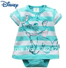 Free shipping baby girl romper  with lovely cat summer baby dresses size in  0-3M/3-6M/6-12M/12-18M/18-24M Original brand(China (Mainland))