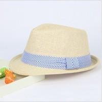Summer child strawhat baby sun hat sunbonnet male female child hat bonnet fedoras baby hat