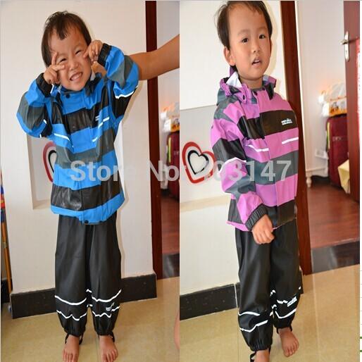 PU Children Rain suit Boys girl