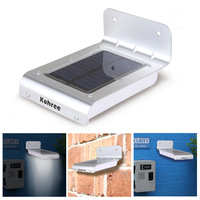Kohree16 LED Super Bright Waterproof Solar Powered Motion Outdoor Garden Multi-function Sound and Ray Sensor Lamp 8pcs/Lot