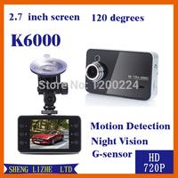 Автомобильный видеорегистратор SLZ dvr K6000 HD 1920 * 1080 30fps 2.4 TFT G